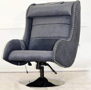 Массажное кресло EGO MAX COMFORT EG-3003 LIGTH с обивкой из велюра